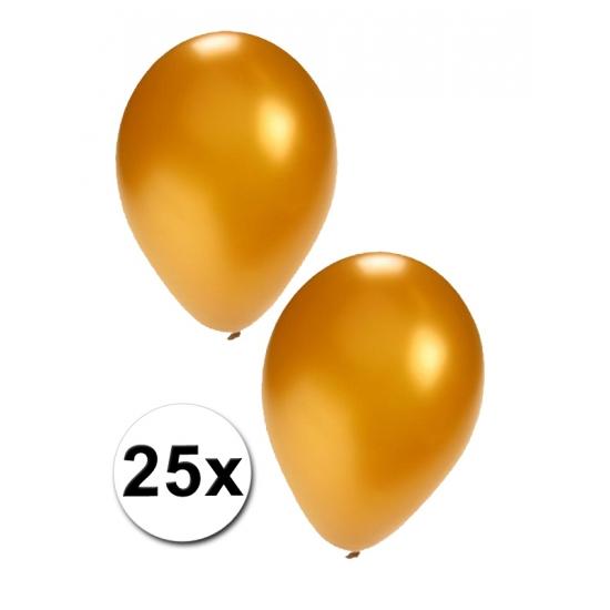 25 stuks gouden ballonnen (bron: Hawaii-feestwinkel)