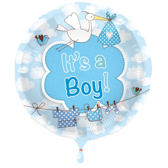 Ballon jongen geboren Its a Boy (bron: Hawaii-feestwinkel)