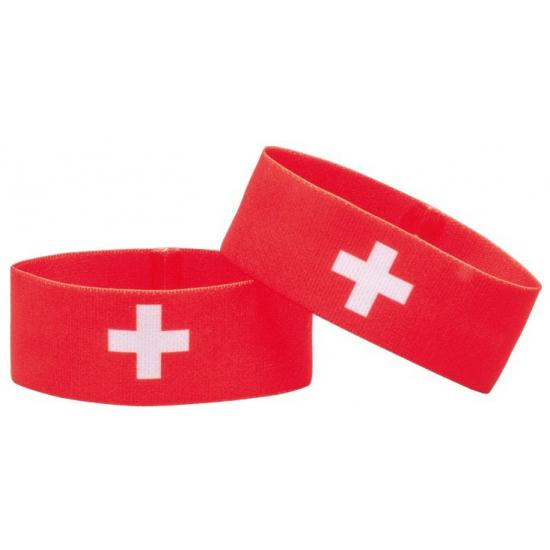 Fan armband Zwitserland (bron: Hawaii-feestwinkel)
