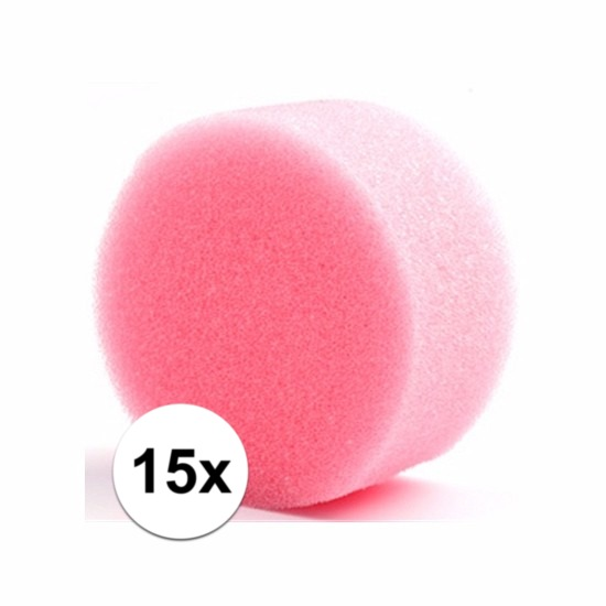 Grimas make up sponsjes rond 15 st. (bron: Hawaii-feestwinkel)