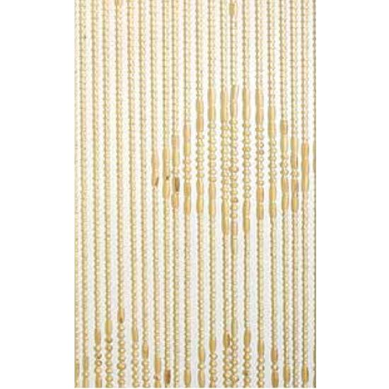 Houten kralen naturel deurgordijn 220 cm