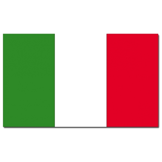 Italiaanse vlag 90 x 150 cm (bron: Hawaii-feestwinkel)