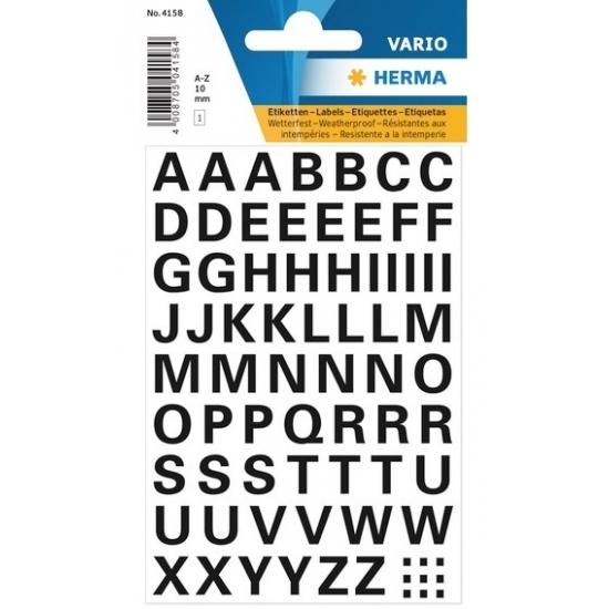 Letterstickers zwart 10mm 65x (bron: Hawaii-feestwinkel)