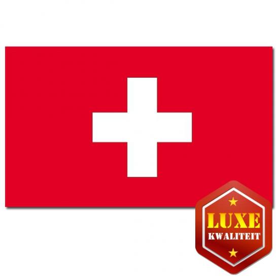 Luxe Zwitserse vlag 100 x 150 cm