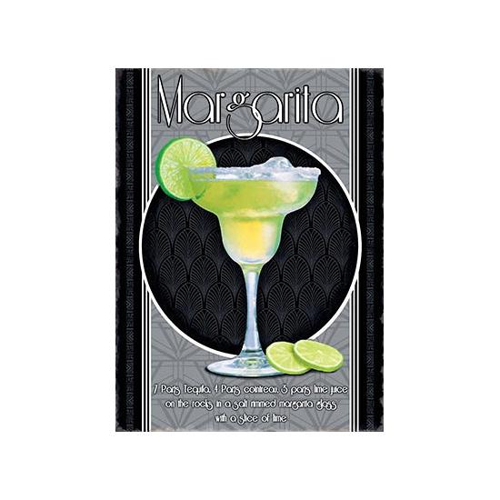Metalen wand bordje Margarita (bron: Hawaii-feestwinkel)