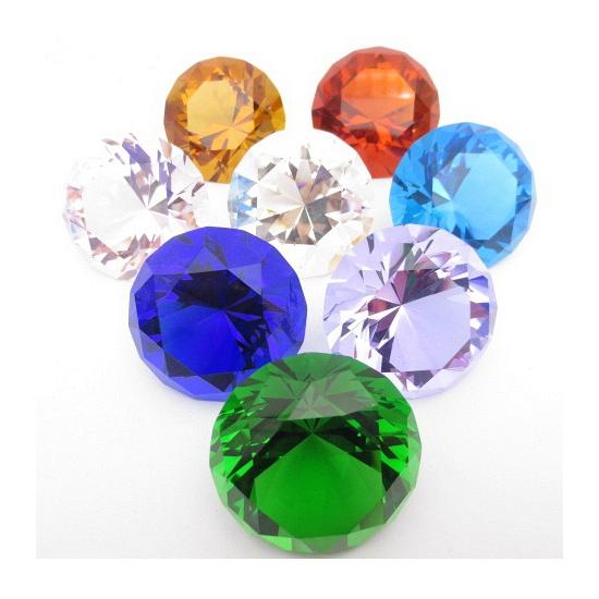Mooie groene decoratie diamant 4 cm (bron: Hawaii-feestwinkel)
