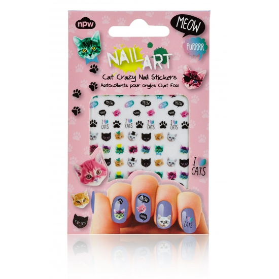 Nagel decoratie sticker set katten (bron: Hawaii-feestwinkel)