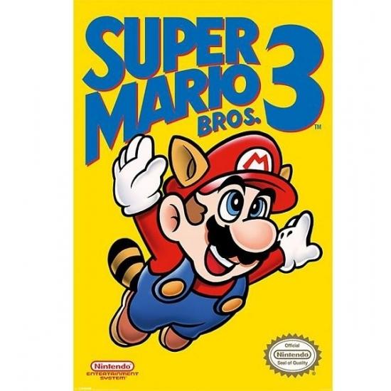 Nintendo Mario Bros kinder posters (bron: Hawaii-feestwinkel)