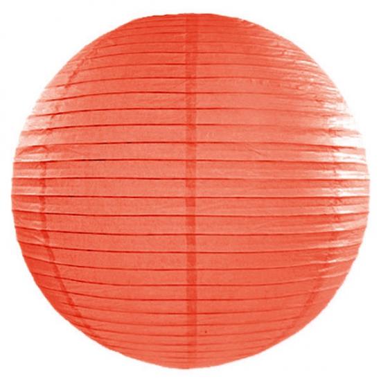 Oranje lampion rond 50 cm (bron: Hawaii-feestwinkel)