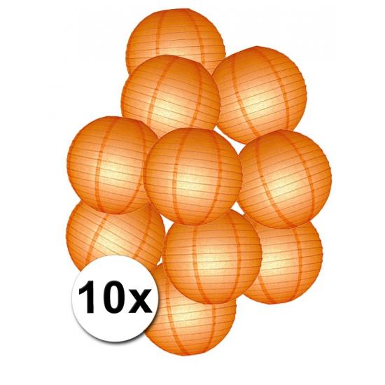 Pakket met oranje lampionnen (bron: Hawaii-feestwinkel)