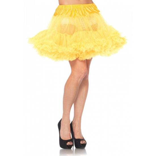 Petticoat luxe geel voor dames (bron: Hawaii-feestwinkel)