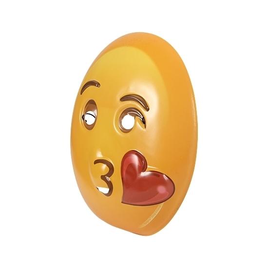 Plastic emoticon masker kusje (bron: Hawaii-feestwinkel)