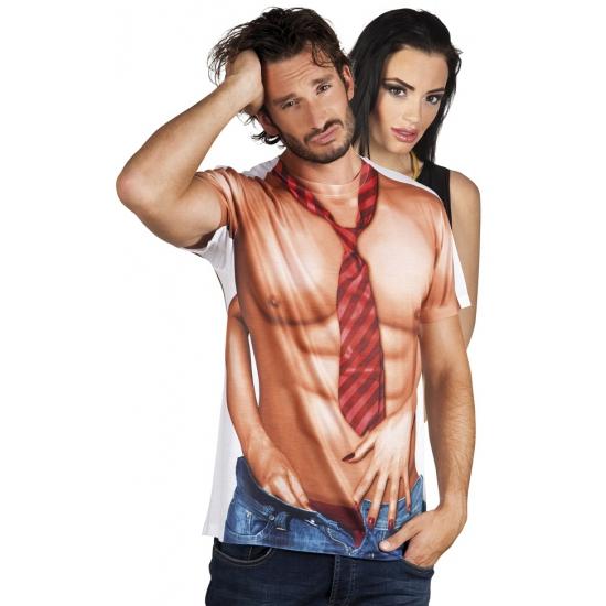Shirt met naakte man opdruk (bron: Hawaii-feestwinkel)