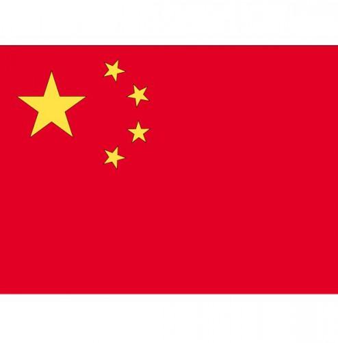 Stickertjes van vlag van China (bron: Hawaii-feestwinkel)