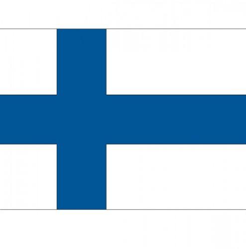 Stickertjes van vlag van Finland (bron: Hawaii-feestwinkel)