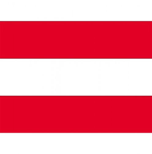 Stickertjes van vlag van Oostenrijk (bron: Hawaii-feestwinkel)