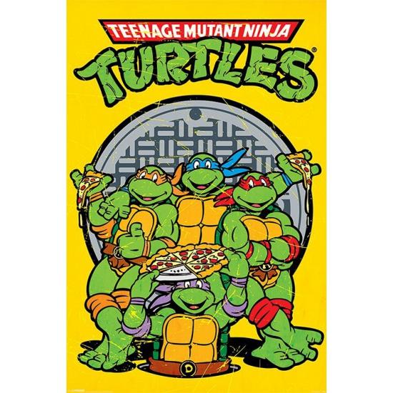 Turtles maxi poster 61 x 91,5 cm (bron: Hawaii-feestwinkel)