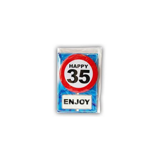 Verjaardagskaart 35 jaar (bron: Hawaii-feestwinkel)