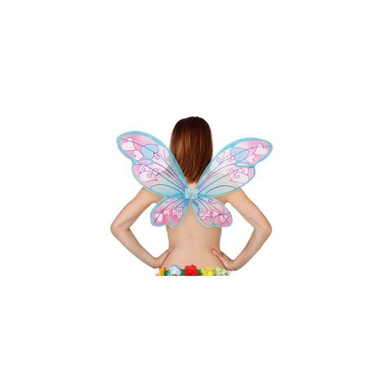 Vlinder vleugels met hartjes (bron: Hawaii-feestwinkel)