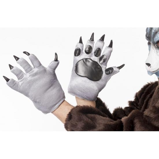 Wolven klauwen handschoenen voor volwassenen (bron: Hawaii-feestwinkel)