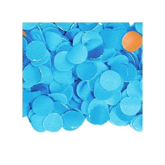 Zakje met 100 gram blauwe confetti (bron: Hawaii-feestwinkel)