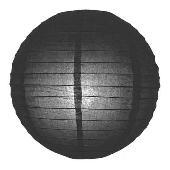 Zwarte lampion rond 25 cm (bron: Hawaii-feestwinkel)