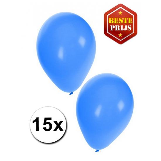 15 stuks blauwe ballonnen