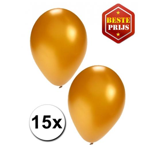 15 stuks gouden ballonnen