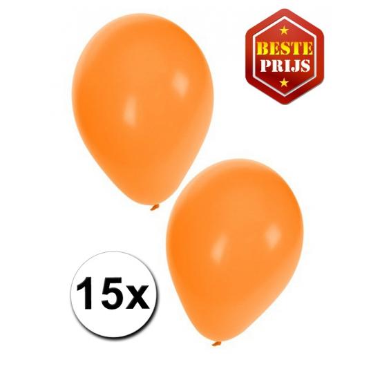 15 stuks oranje ballonnen