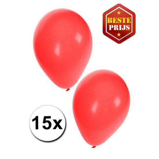 15 stuks rode ballonnen