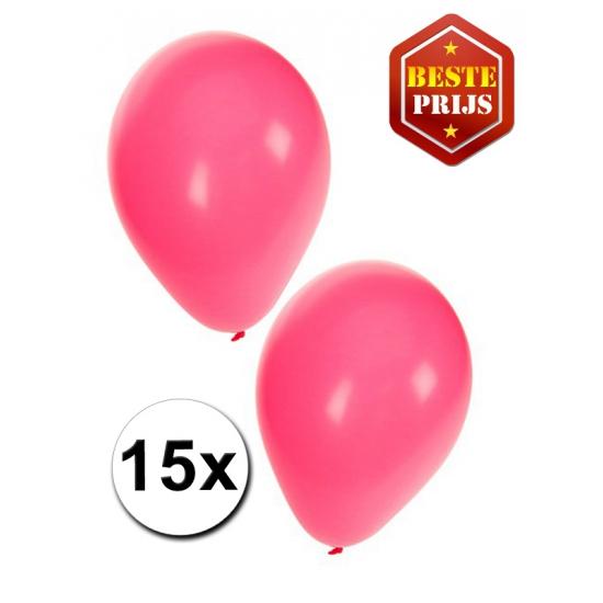 15 stuks roze ballonnen
