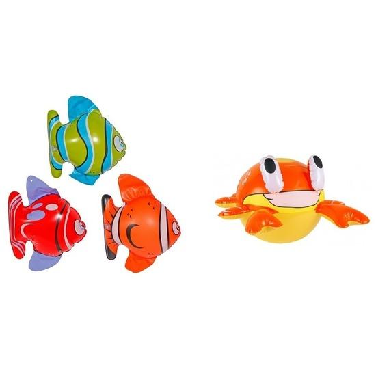 4 stuks Opblaasbare decoratie zeedieren