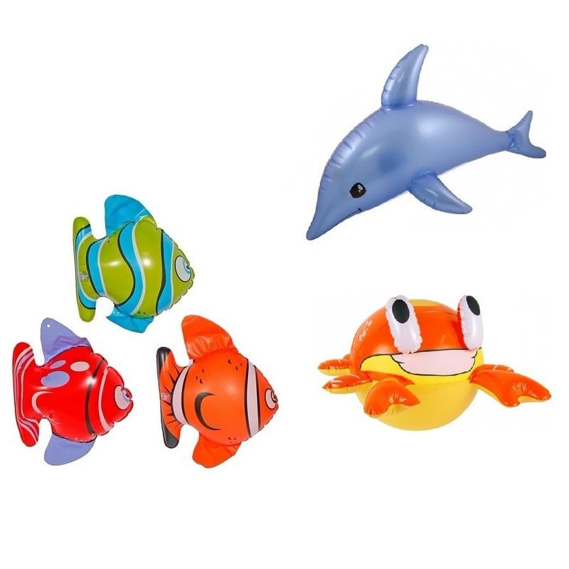 5 stuks Opblaasbare decoratie zeedieren