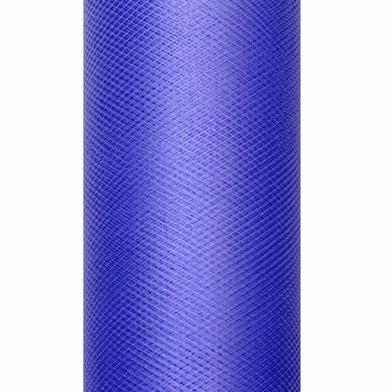 Blauwe tule stoffen 15 cm breed