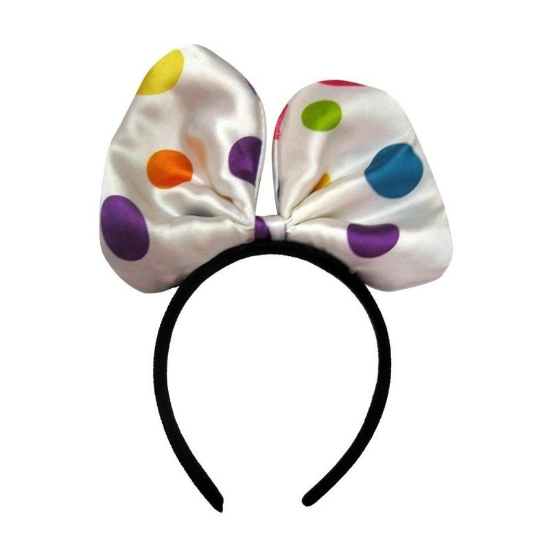 clown diadeem met gekleurde stippen