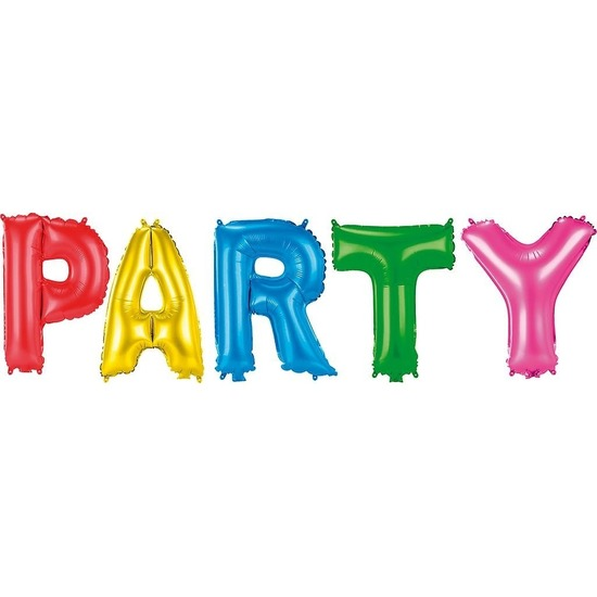 Gekleurde folieballonnen Party set
