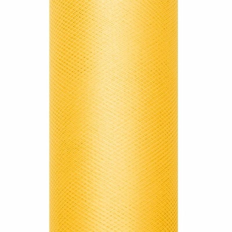 Gele tule stoffen 15 cm breed