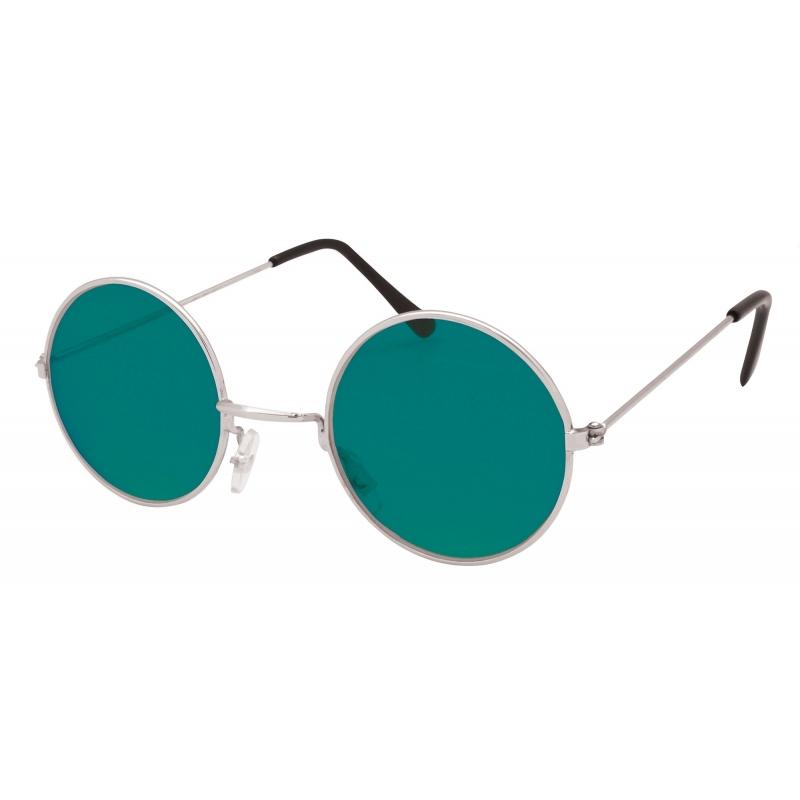 Groene hippie bril
