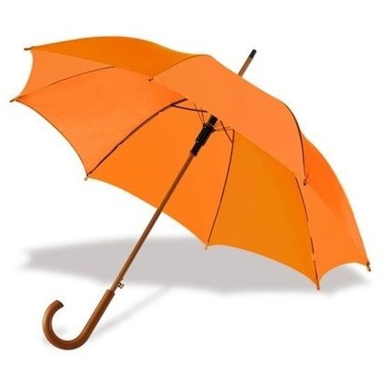 Grote paraplu oranje 103 cm