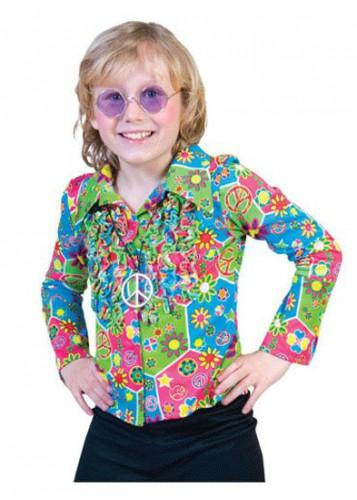 46ebc47c87b402 Hawaii feest: Hippie blouse voor kids