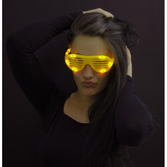 LED lamellenbril geel