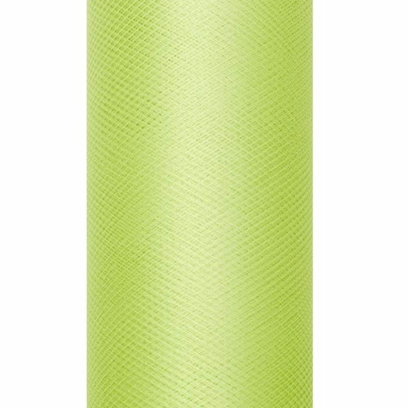 Lichtgroene tule stoffen 15 cm breed