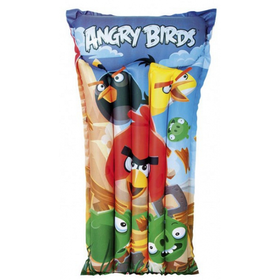 Opblaas Angry Birds luchtbed-luchtmatras 119 x 61 cm waterspeelgoed