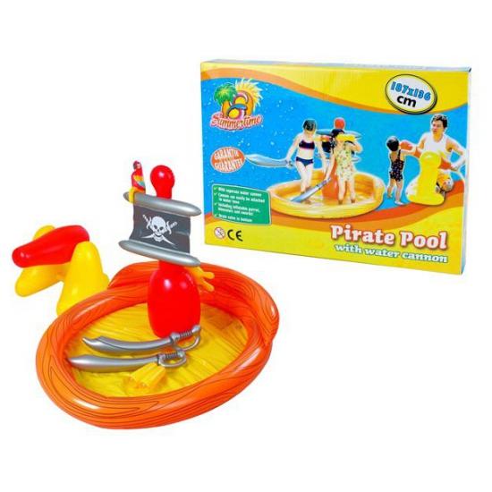 Opblaas zwembad met piraten thema