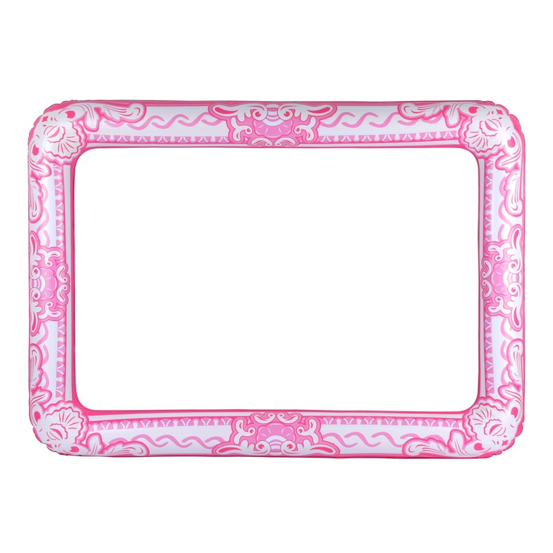 Opblaasbaar fotoframe roze 60 x 80 cm fotoprop
