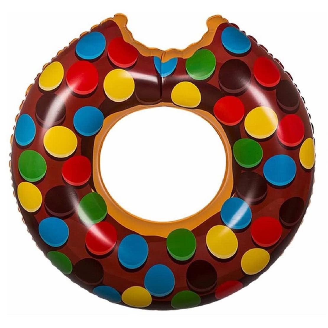 Opblaasbare donut zwemband met spikkels