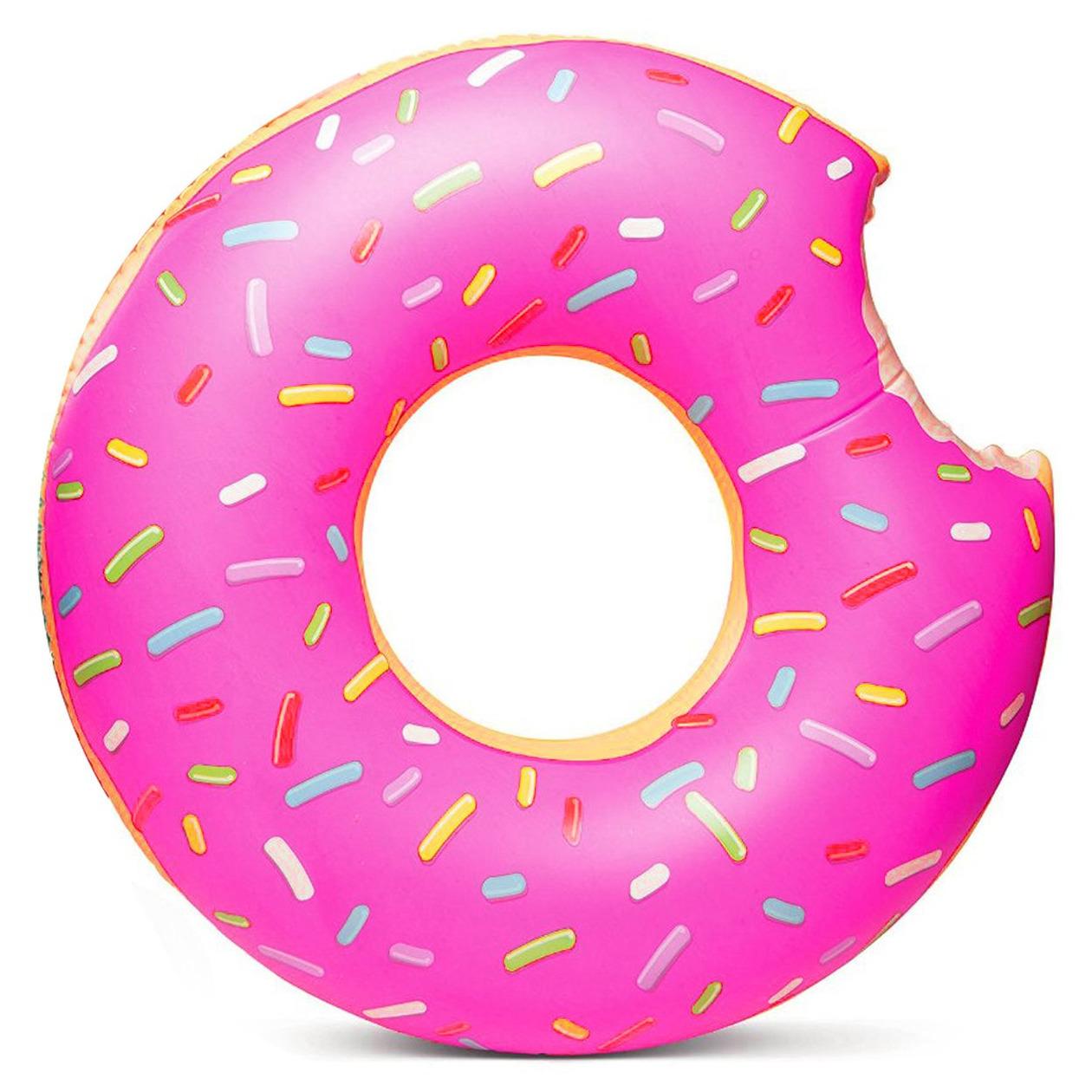 Opblaasbare donut zwemband roze