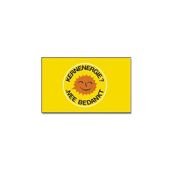 Protest vlag Kernenergie nee bedankt