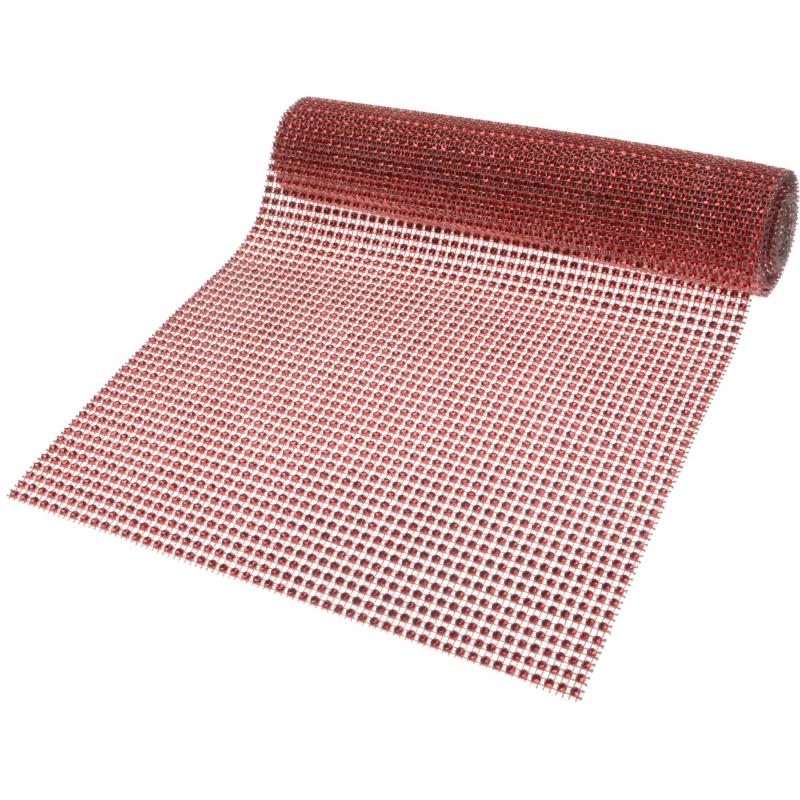 Rode tafelloper diamant 200 cm