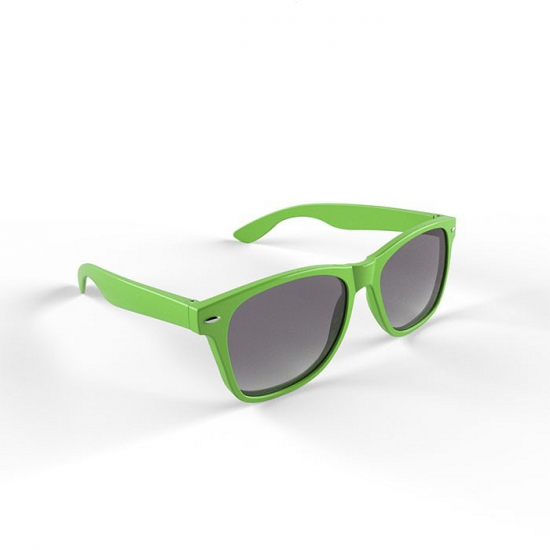 Trendy zonnebrillen limegroen